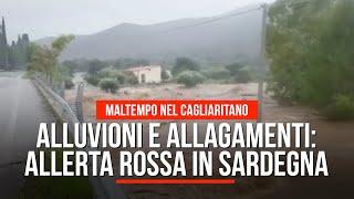 Alluvioni e allagamenti: è allerta rossa in Sardegna