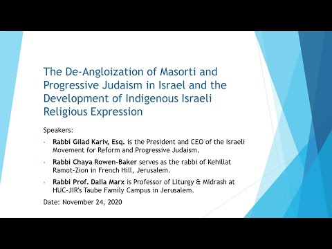 The De-Angloization Of Masorti And Progressive Judaism In Israel