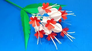 Beautiful DIY Paper Stick Flower | Handcraft Stick Flower Making for Room | Jarine's Crafty Creation