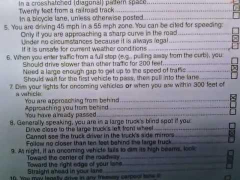 California DMV Written Test - YouTube