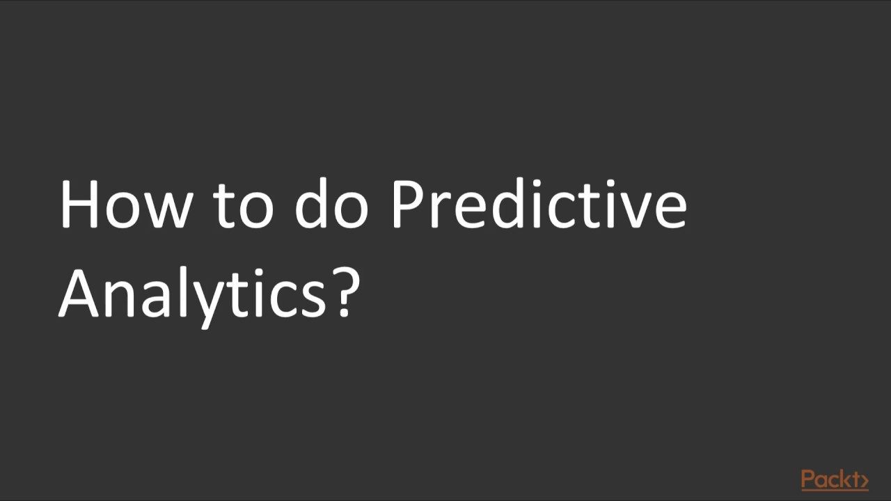Become a Python Data Analyst : Introduction to Predictive Analytics Models  | packtpub com