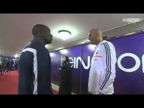 Zinedine Zidane with Claude Makelele   PSG vs Real Madrid, 02/01/14