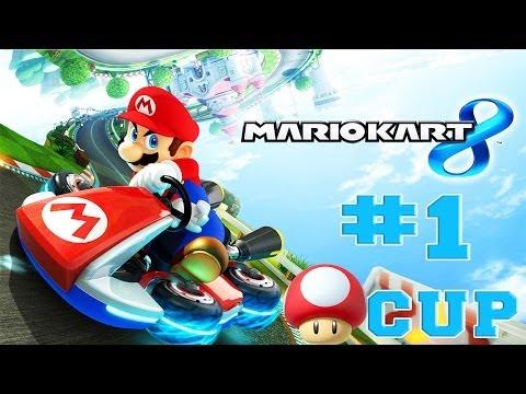 Mario Kart 8 - Walkthrough Part 1 Mushroom Cup 50cc [HD]