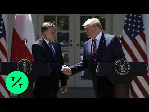 Trump, Duda Hold Joint News Conference in the Rose Garden