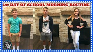 MORNING ROUTINE - FIRST DAY OF SCHOOL 2017