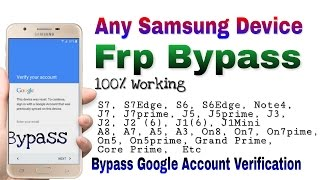 Any Samsung Device FRP Bypass 100% Working - How to Bypass samsung Frp - Google Verifaction Bypass