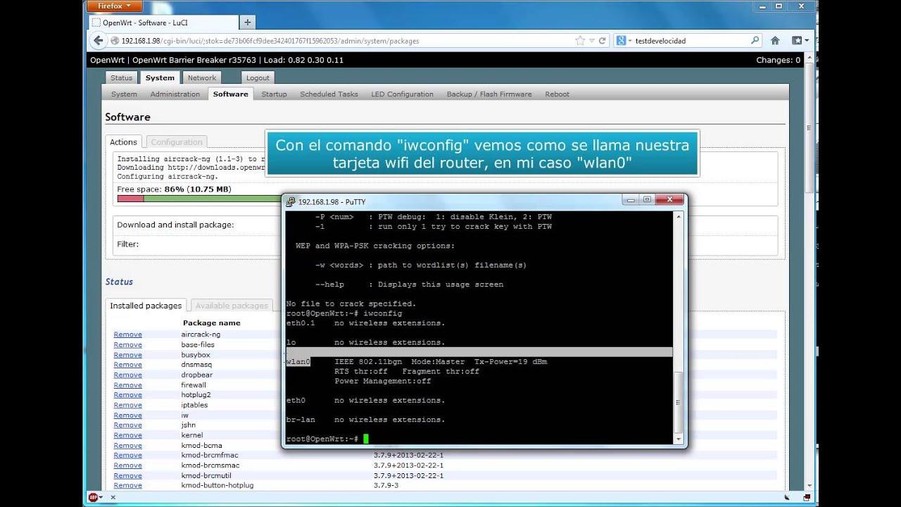 Instalar la Suite Aircrack-ng en un Router con Openwrt