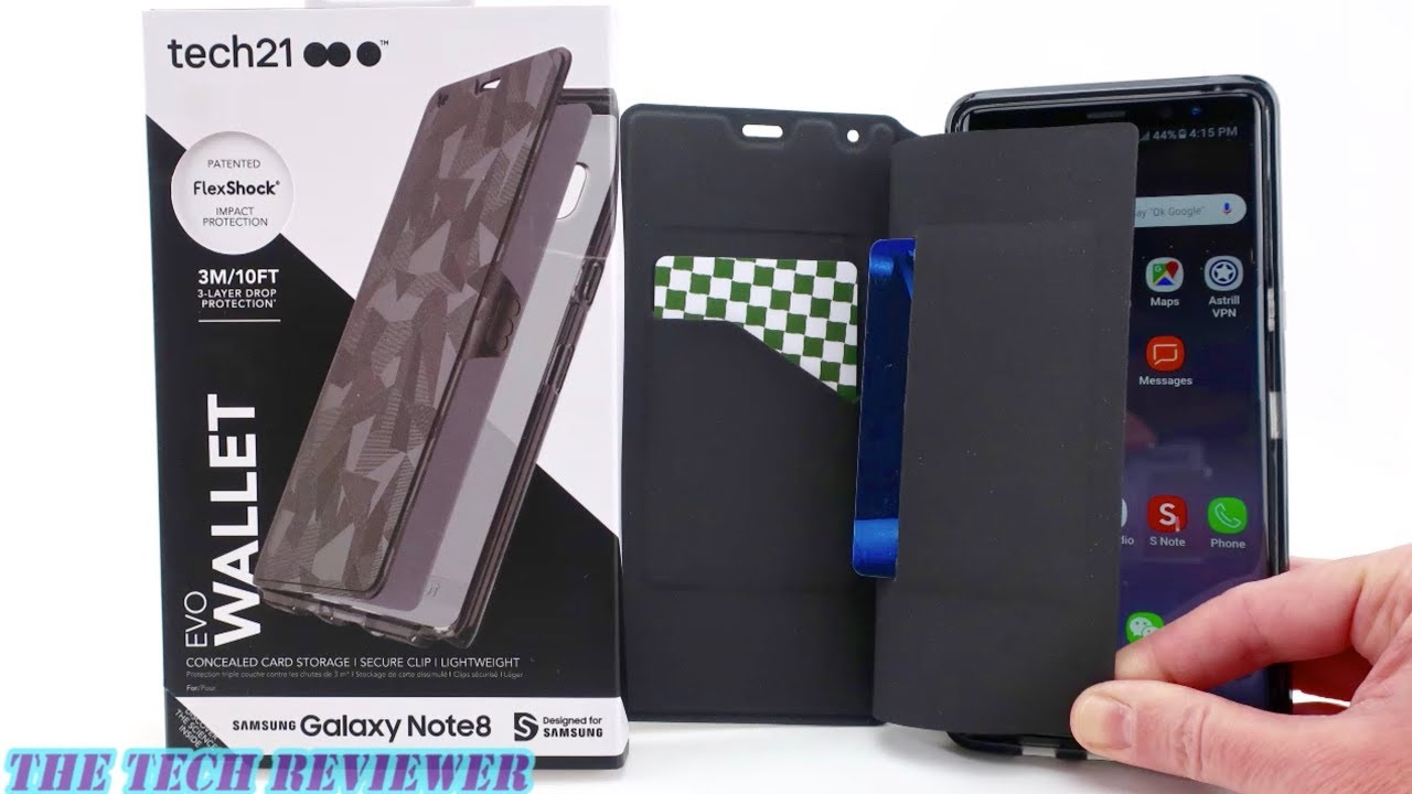 finest selection e396a 239cc Tech21 Evo Wallet for Galaxy Note8: Stealth Card Storage & 10 ft Drop  Protection!