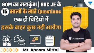 All Questions of last 15 Years | SSC JE | Strength Of Materials By Apoorv Mittal