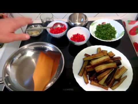 Закуска из баклажанов Любимая кулинарный рецепт
