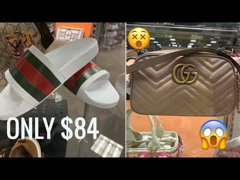 $84 GUCCI SLIDES! OUTLET SHOPPING!