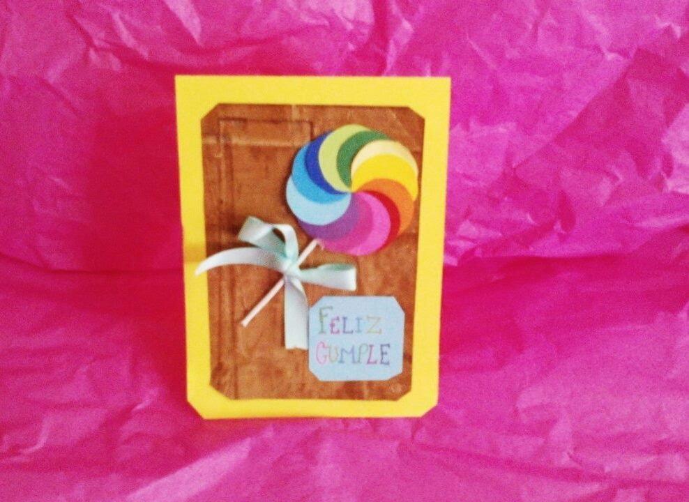 Como hacer una tarjeta de cumplea os youtube for Hacer tarjeta cumpleanos