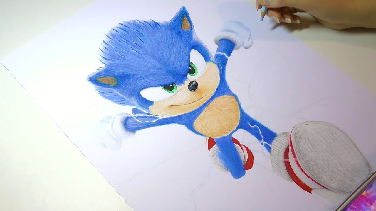 Drawing Sonic The Hedgehog 2020 Sonic The Movie Youtube