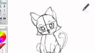 Как нарисовать кошку(Хотите научиться рисовать также? Тогда вам сюда http://narisuy-ka.ru/kak-narisovat-koshku/ Покадровый разбор каждого элемента..., 2012-05-01T14:12:02.000Z)