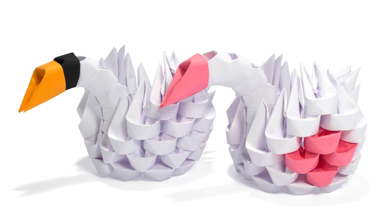 3d origami simple swan tutorial youtube