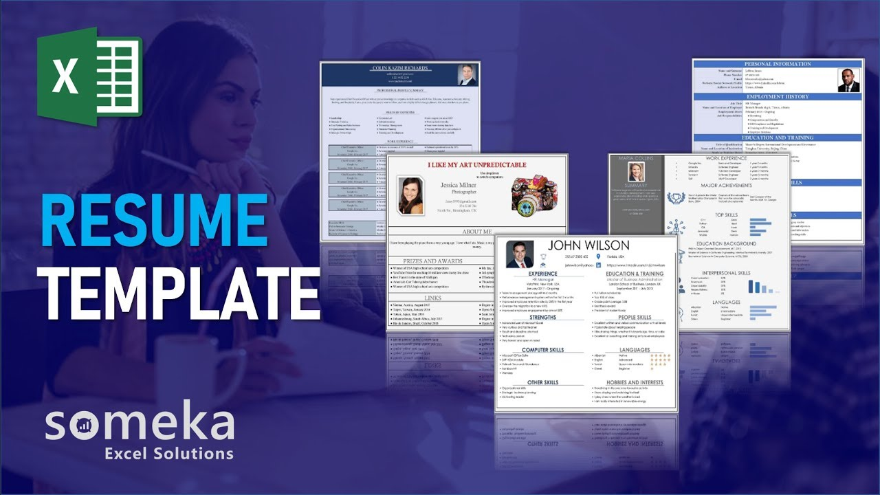 Resume Template - 5 Different Resume Styles in Excel