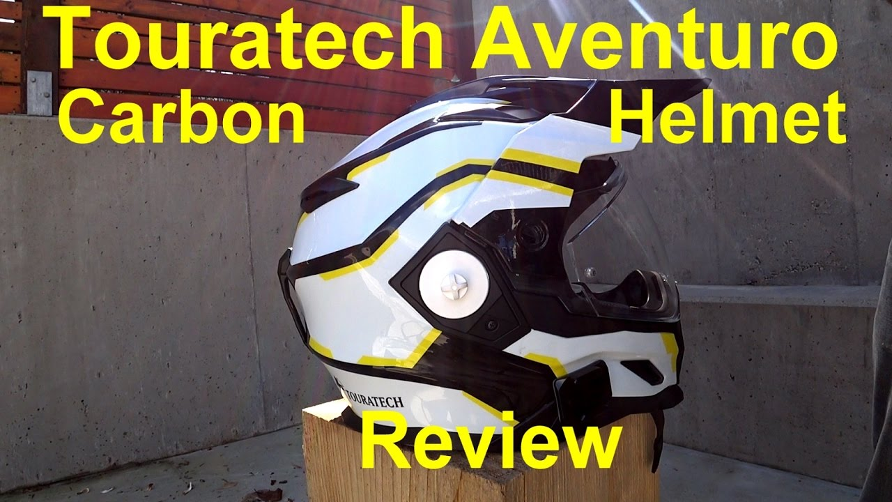 Touratech Aventuro Rallye Carbon Fiber Helmet Review - YouTube b1d51fc65d607
