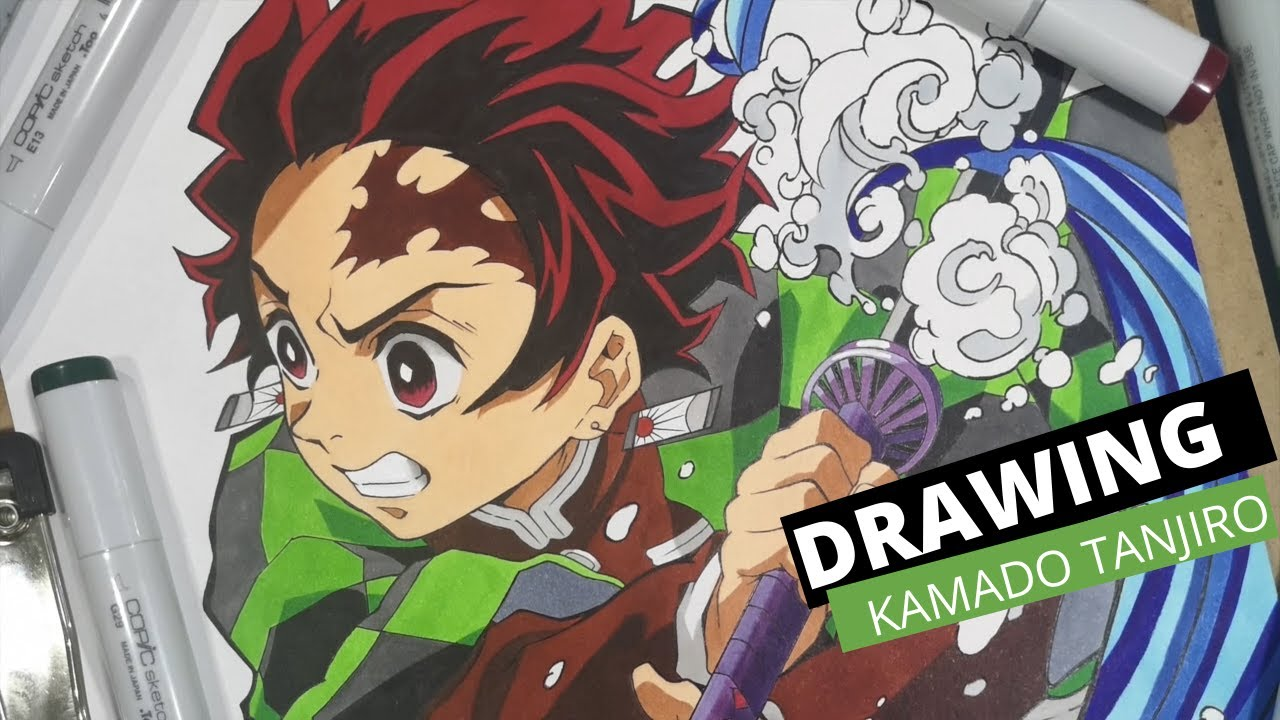Drawing Kamado Tanjiro Youtube