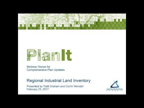 PlanIt: Regional Industrial Land Inventory Webinar