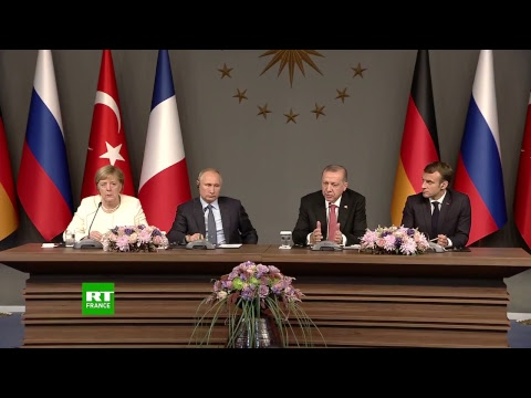 Poutine, Macron, Erdogan et Merkel évoquent le dossier syrien suite au sommet d'Istanbul