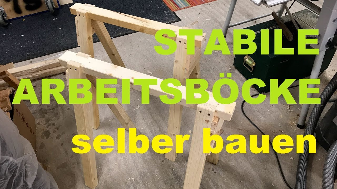 stabile arbeitsb cke selber bauen youtube. Black Bedroom Furniture Sets. Home Design Ideas