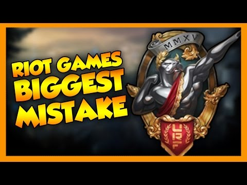 RIOT GAMES BIGGEST MISTAKE