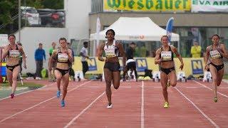 Women's 100m Final A at Liese Prokop Memorial 2019