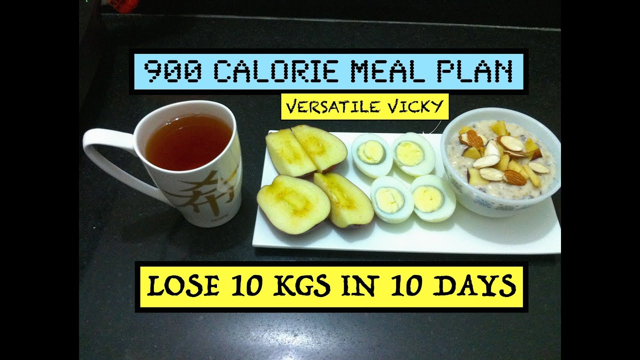 HOW TO LOSE WEIGHT FAST 10Kg in 10 Days | 900 Calorie Egg ...