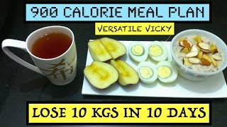 HOW TO LOSE WEIGHT FAST 10Kg in 10 Days | 900 Calorie Egg Diet By Versatile Vicky