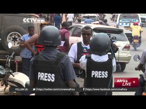 Uganda authorities ban live coverage of opposition protests