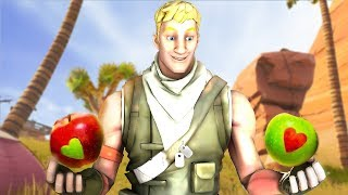 EPIC LIFE WITH FRUIT HACKS IN FORTNITE!