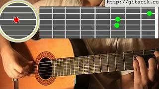 Танцы Минус - Половинка Видео Разбор на гитаре
