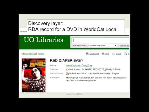 RDA for the Non-Cataloger - What's in it for You?