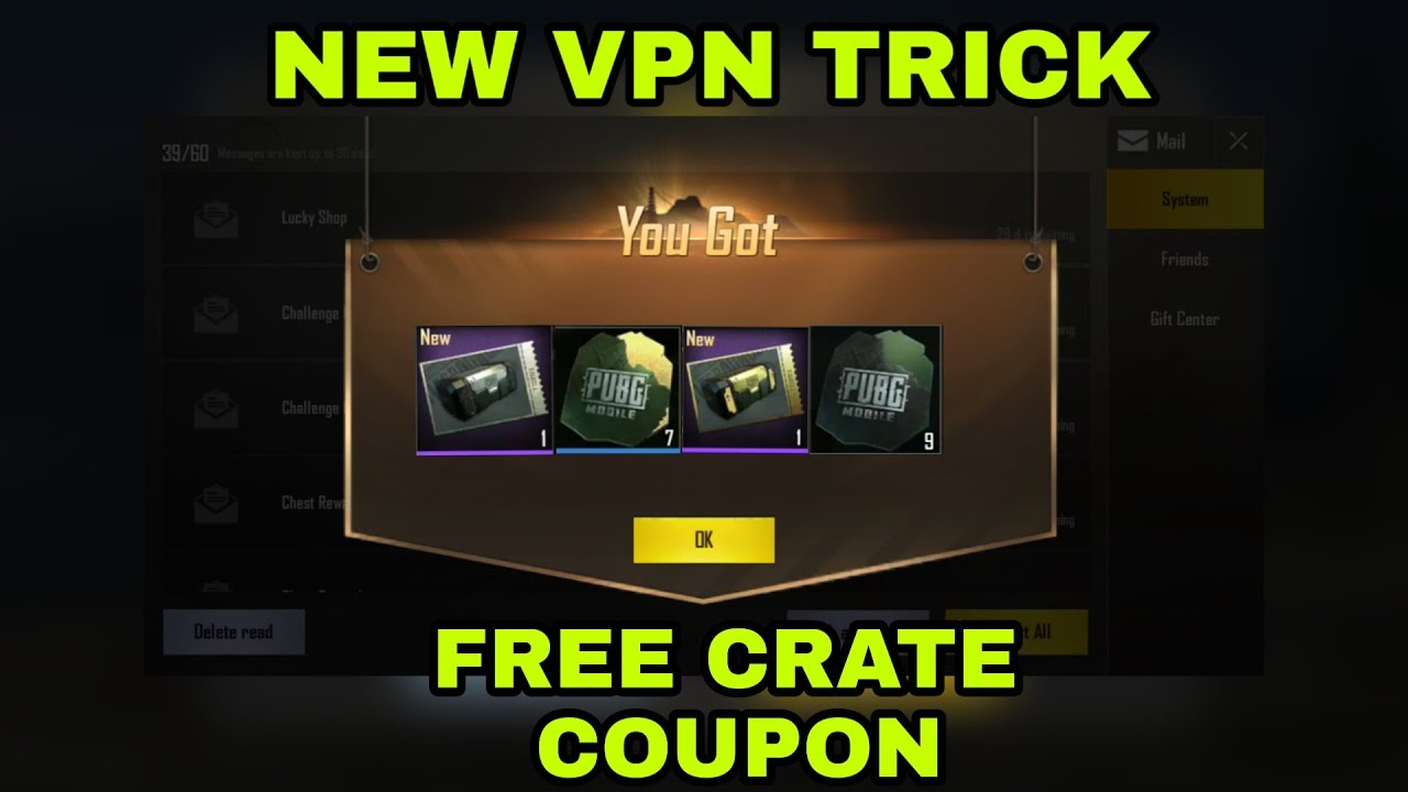Pubg mobile new vpn trick free crate coupon latest trick