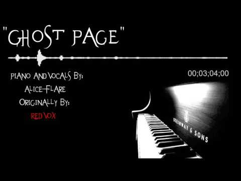 『Ghost Page』(Piano & Vocal Cover) ||【Alice Flare】