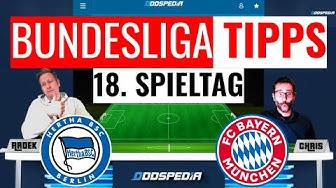 BUNDESLIGA VORHERSAGE ⚽ Tipps zum 18. Spieltag der Saison 2019/2020 mit Hertha vs Bayern