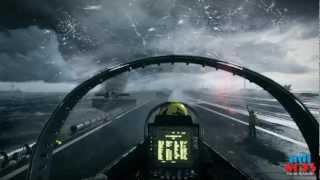 Battlefield 3 - Inside F/A 18 Super Hornet part 1 [Gameplay]