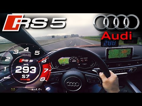 Second RUN! 2018 Audi RS5 (0-295km/h) POV   TOP SPEED, Acceleration TEST✔