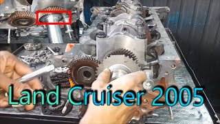 land cruiser engine timing chain replacement | land cruiser 2005 {mechanical tips }