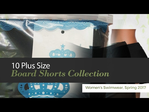 Plus Size Board Shorts Collection Womens Swimwear Spring