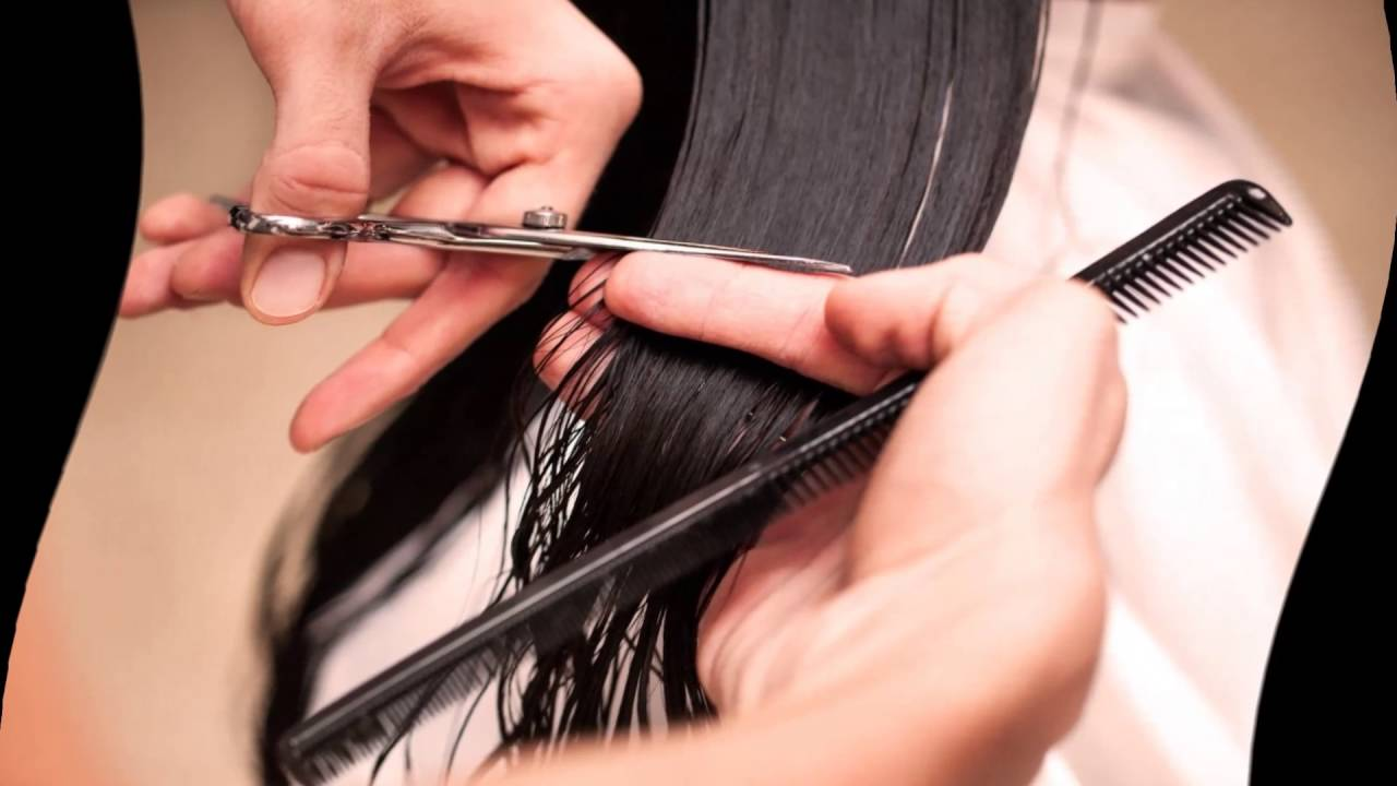как подстричь самой себе кончики волос