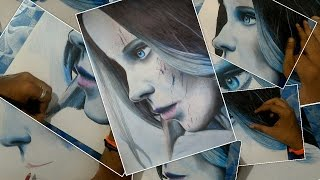 Speed Drawing Kate Beckinsale from Underworld