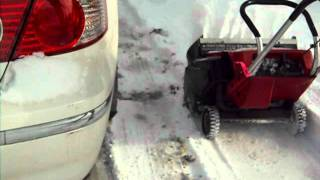 toro snowmaster in action