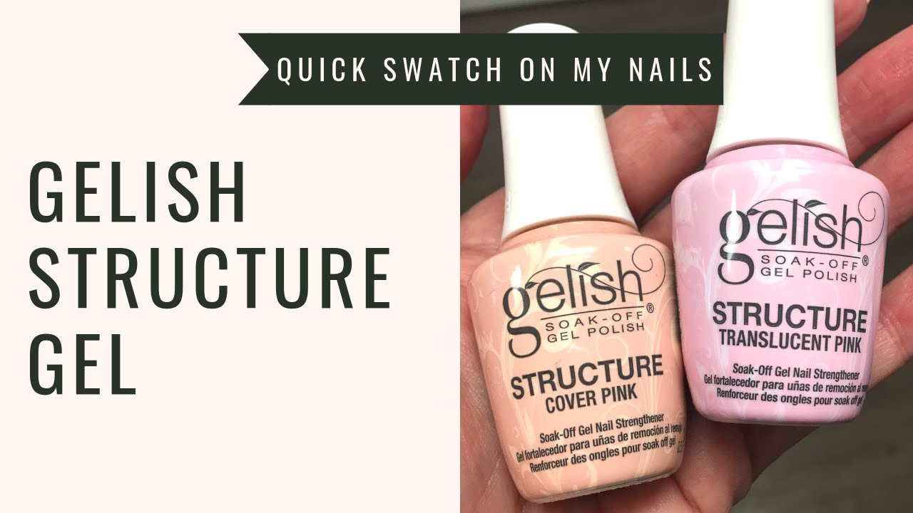 *NEW* Gelish Structure Cover Pink & Translucent Pink