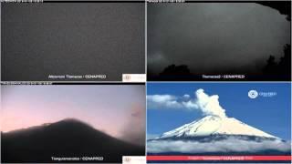 Popocatepetl - 20160106 - 16:55 a 22:10 hrs