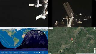 Slow Orbital Sunrise Over Asia - NASA/ESA ISS LIVE Space Station With Map - 28 - 2018-07-17