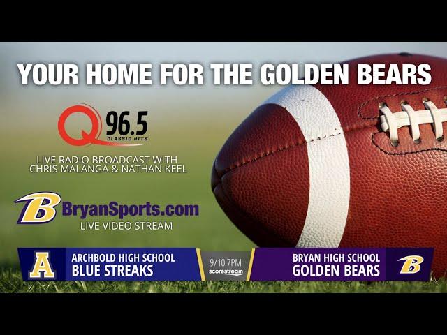2021 Golden Bear Football - Bryan vs. Archbold
