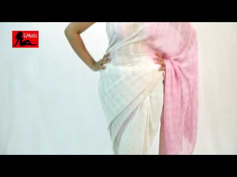 How To Wrap Backless Saree Blouse White & Pink Ulta Palu Saree thumbnail