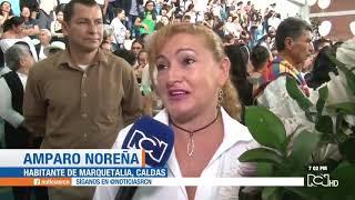 Sepelio colectivo en Marquetalia, Caldas, para las víctimas del deslizamiento