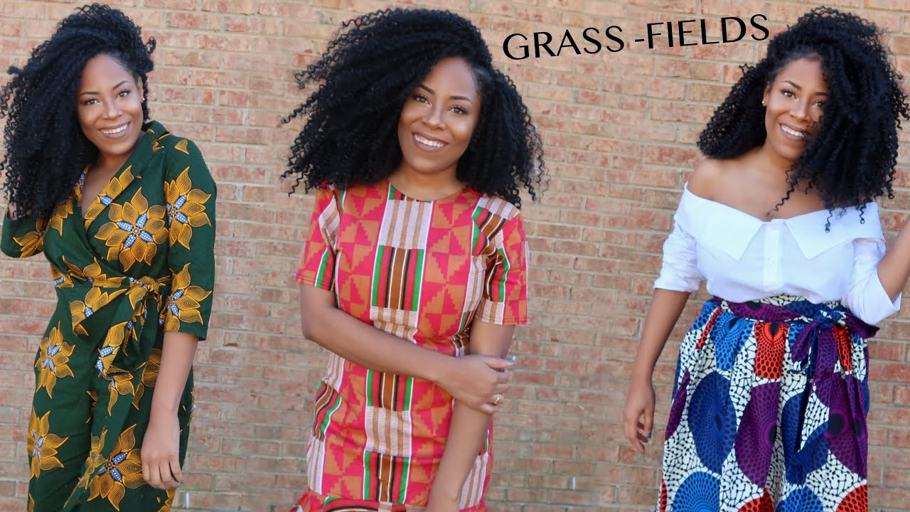 GRASS-FIELDS CLOTHING TRY-ON HAUL| AFRICAN PRINT CLOTHING| BLACK OWNED BUSINESS
